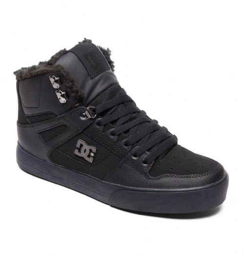 DC SHOES MENS HI TOP BOOTS.PURE WINTERIZED LINED LEATHER HIGH BLACK SHOES 8W 47